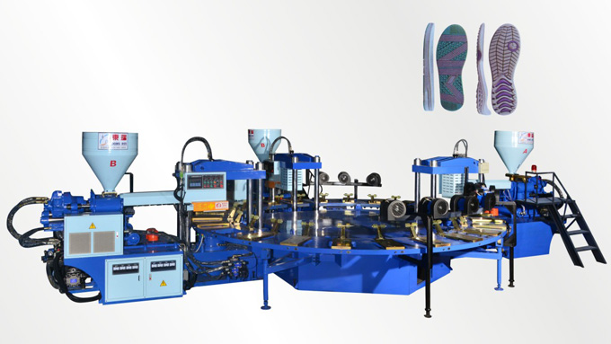 Full-Automatic Disk Type Shoe Injection Molding Machine(Three-color 24 stations)